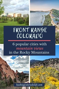 Thinking of moving to Colorado? Here's what you need to know about Colorado's Front Range cities from Fort Collins to Pueblo. Then check out this list of the best 6 cities to live in with mountain views of the Front Range Rocky Mountains. Colorado City, Moving To Colorado, Visit Colorado, Living In Colorado, Colorado Mountains, Rocky Mountains, Colorado Springs, Best Places To Live, Places To Travel