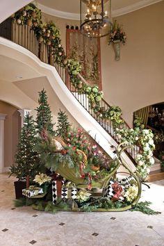 Оформление лестницы на Новый Год или как украсить лестницу на Новый Год