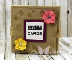 Nicole Wilson Independent Stampin' Up!® Demonstrator - Onstage Live Brisbane Display Board mini notecard box Sample using hostess set Iconic Occasions. www.facebook.com/NicoleWilsonStamp #stampinup #onstage2016 #brisbanelive