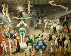 Charivari ((also known as The Grand Parade) by Dame Laura Knight (British), oil on canvas, genre: British Impressionism, 1928 Horse Posters, English Artists, British Artists, Circus Art, Ballet, Vintage Circus, Art Uk, Your Paintings, Impressionism