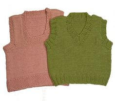 Easy Baby Vests Knitting Pattern - via Etsy.