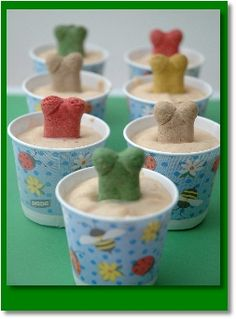 Peanut Butter Frozen Treats for dogs.