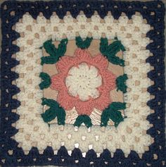 """MoCrochet: Blooming Granny - 12"""" square"""
