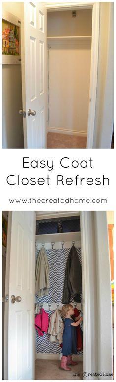 37 Ideas Coat Closet Remodel Hallways For 2019 - My Home Decor Closet Redo, Closet Remodel, Closet Makeover, Closet Designs, Kid Closet, Closet Under Stairs, Entry Closet, Hall Closet, Closet Design