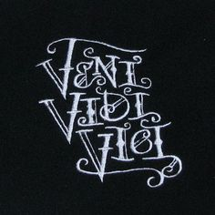 Veni Vidi Vici Embroidered Black Fleece by CirclesOfStoneShop, $18.00