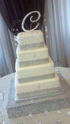 Wedding cake - diamonds, shinny
