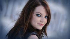 Full View and Download Emma Stone Blue Eyes Wallpaper
