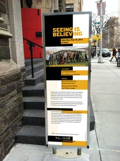 Contemporaneous Ensemble poster design for Arts at The Park, NYC by Mary Maru Design.