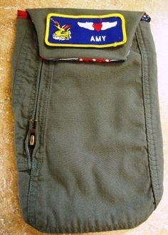 Flightsuit Diaper and Wipes Pouch by farmgirlsfashions on Etsy, $10.00