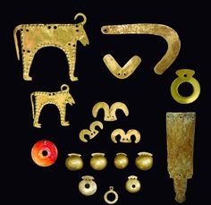 The oldest gold treasure in the world, dating from 4,600 BC to 4,200 BC Found in Varna, Bulgaria