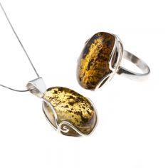 Borostyán medál és gyűrű ajándékcsomag 1