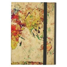 Vintage world map cover for iPad air