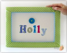 Button Wall Art Personalized Wall Decor For Girl Baby by ChicMango