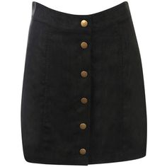 Pilot Faux Suede Front Button Mini Skirt ($23) ❤ liked on Polyvore featuring skirts, mini skirts, black, mini skirt, faux suede skirt, faux suede mini skirt, short mini skirts and short skirts