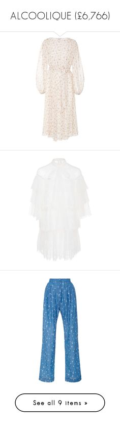 """ALCOOLIQUE (£6,766)"" by fendilicious ❤ liked on Polyvore featuring dresses, white, white tie dress, white day dress, daisy dress, long-sleeve maxi dress, white long-sleeve dresses, tiered ruffle dress, layered ruffle dress and white dresses"