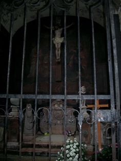 """A gated grave site as seen in """"The Sound Of Music"""" film.  (Located in St. Peter's Cemetery)  Salzburg Austria"""
