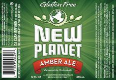 Cerveja New Planet Ambar Ale, estilo American Amber Ale, produzida por Fort Collins Brewing, Estados Unidos. 5% ABV de álcool.