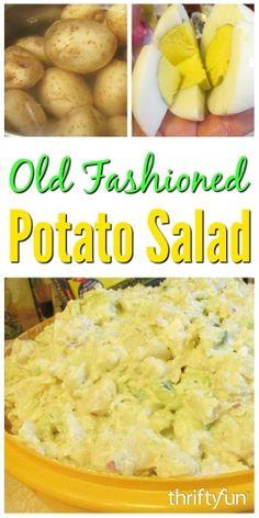Amish Potato Salads, Homemade Potato Salads, Best Potato Salad Recipe, Roasted Potato Salads, Southern Potato Salad, Classic Potato Salad, Easy Salad Recipes, Roasted Potatoes, Potato Recipes