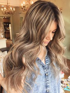 Long Brown Hair With Blonde Highlights