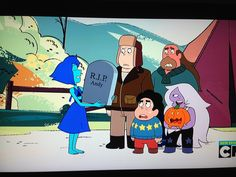 Someone who hasn't seen Steven universe please explain this picture  Blue ballerina is happy with Andy dying and family is thoroughly disgusted