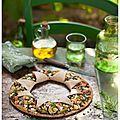 Tarte «soleil» aux jeunes courgettes, pignons et Chavignol (Recette saine et à IG bas)   L'été...