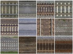 seamless textures rails