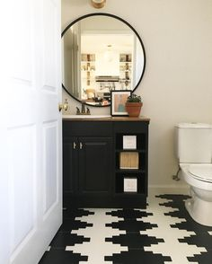 "112 Likes, 24 Comments - Shannon Tate (@shannontateinteriors) on Instagram: ""My own first floor bathroom is finally complete!!! Actually, need art on the wall , but…"""