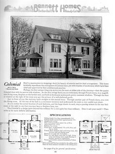 colonial100 from Bennett Homes Catalogue of Ready Cut Homes.