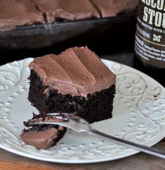 Chocolate Beer cake...looks elegant and delicious.  Wonder if it also qualifies as man-food?
