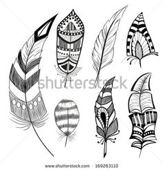 Native American Man Portrait Carved In Feather Symbol Stock Vector 138982475 : Shutterstock