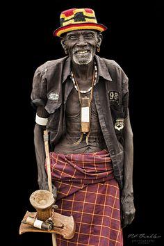 Dassanech Tribe Elder . Ethiopia