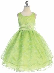 Green, Sage & Lime Flower Girl Dresses - PinkPrincess.com