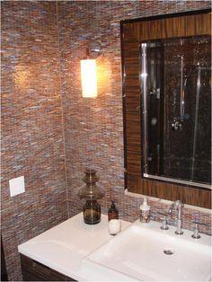 awesome New Glass Tile Bathroom Wall