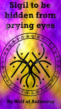 Sigil created by wolf of antimony Witch Spell Book, Witchcraft Spell Books, Magick Book, Wiccan Spells, Magic Spells, Alchemy Symbols, Magic Symbols, Symbols And Meanings, Spiritual Symbols