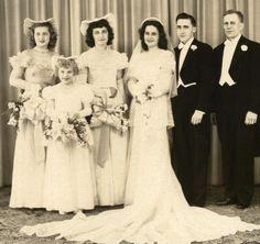 Beautiful Vintage wedding photo with full party | eBay