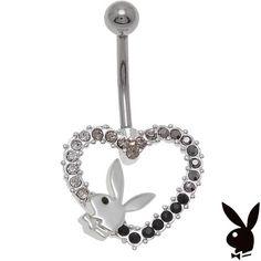 Playboy Belly Ring Heart Bunny Swarovski Crystals Curved Barbell Body Jewelry  | Jewelry & Watches, Fashion Jewelry, Body Jewelry | eBay!