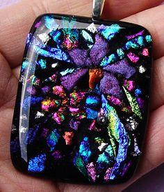 Items similar to Purple Blue Black Fused Dichroic Glass Pendant handmade on Etsy Dichroic Glass Jewelry, Glass Pendants, Plastic Drawers, Lampwork Beads, Art Forms, Imagination, Tiffany, Beaded Jewelry, Glass Art
