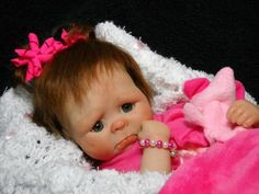 "OOAK Hand Sculpted MINI Polymer Clay Newborn Baby Girl Art Doll 10"" Piper"