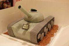 awesome cake idea for little boys or miltary men