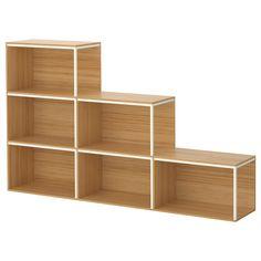 Scaffale Ikea PS 2014 per falde anche molto basse. Profondità: 30 cm Altezza minima: 35 cm Altezza massima: 105 cm
