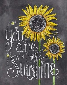 Gift for Mom – Gift for daughter – Baby shower – Nursery Art – Wall Art You Are My Sunshine – Sunflower Art – Childs Room Decor – Chalk Art – Babydusche World Lily And Val, Illustration Blume, Sunflower Illustration, Sunflower Art, Sunflower Quotes, Sunflower Nursery, Sunflower Drawing, Sunflower Crafts, Yellow Sunflower