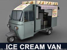Piaggio Ape Ice Cream Van