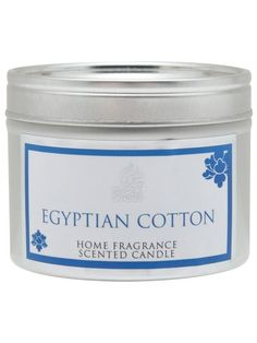 Egyption cotton candle tin  £4.00