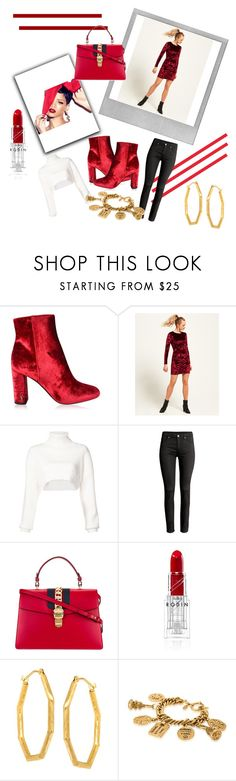 """""""Velvet Set"""" by kabriadarshay on Polyvore featuring Polaroid, MAC Cosmetics, Yves Saint Laurent, Superdry, Alexandre Vauthier, Gucci and Chanel"""
