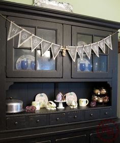 This looks exactly like my hutch!! And I've attached a similar banner! :)