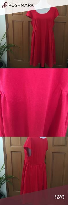 XL red dress XL red short sleeved dress from old navy Old Navy Dresses Midi