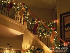 Christmas Stairway Decorations