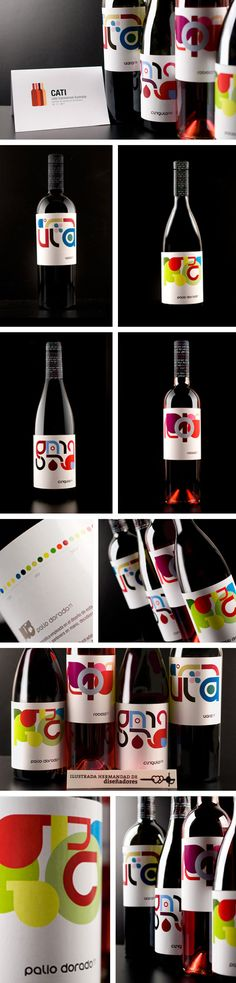 CATI (#vinosypantones)    La intención de esta acción se centra en hacer visibles las sensaciones subjetivas tan diferentes que cierto elemento puede provocar en nosotros. En está ocasión, ese elemento es el vino y la mejor manera de expresarlo, desde el diseño, el color.