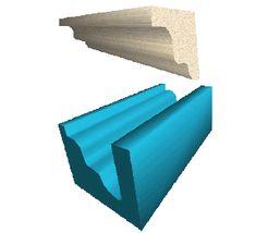moule en polystyrène pour bandeau pierre