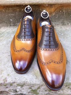bespoke-england:  Stunning shoes ready to leave for Canada